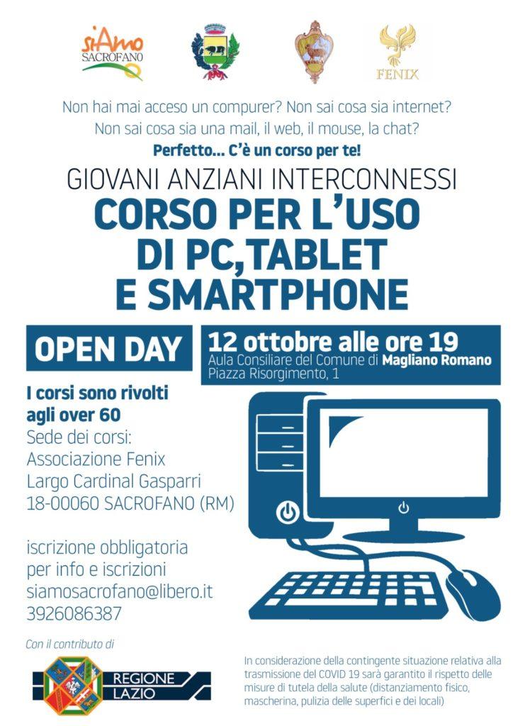 Corso per l'uso di pc, tablet e smartphone